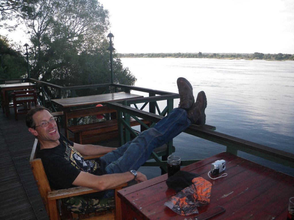Taking a break on the Zambezi