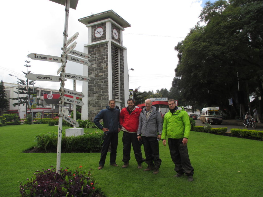 The clock tower in Arusha, half way from Cape to Cairo