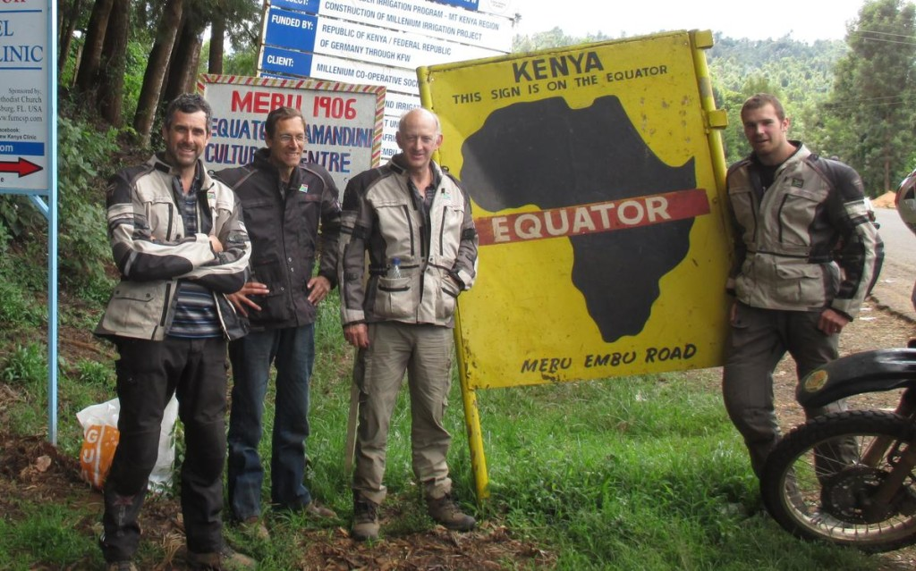 The Equator!  We almost missed this sign!