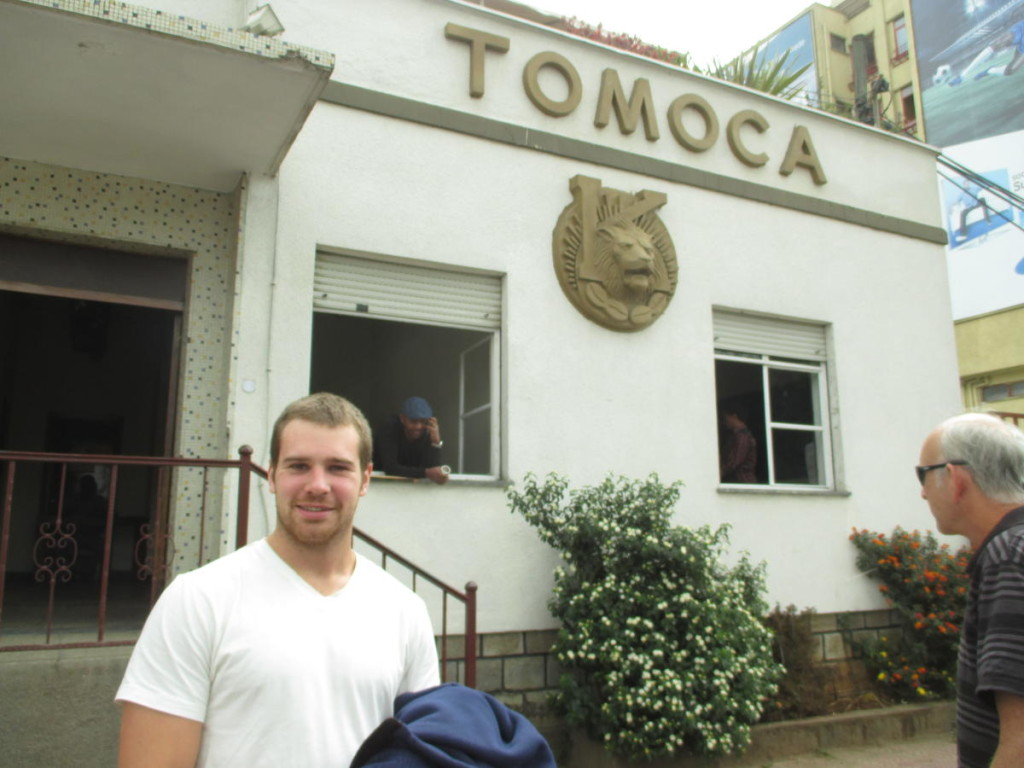 Famous Tomoca coffee house in Addis Ababa