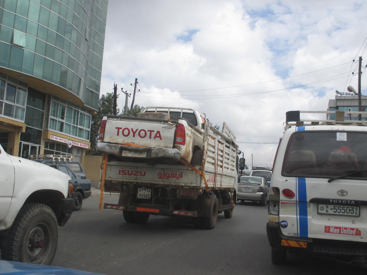A pick up truck in Addis Ababa