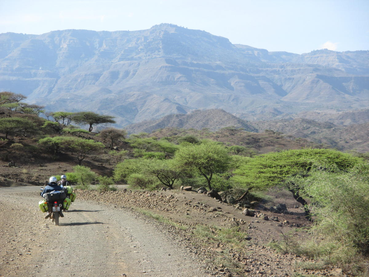 Riding out of Lalibela
